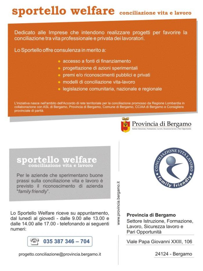 cartolina sportello welfare