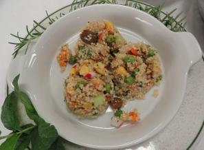 Quinoa con proteine vegetali